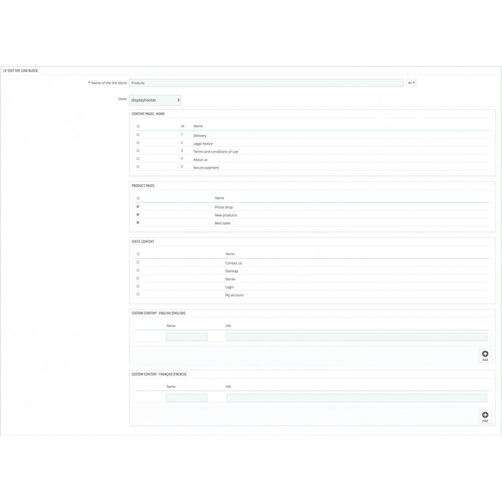 module - Navigation Tools - Link List - 2