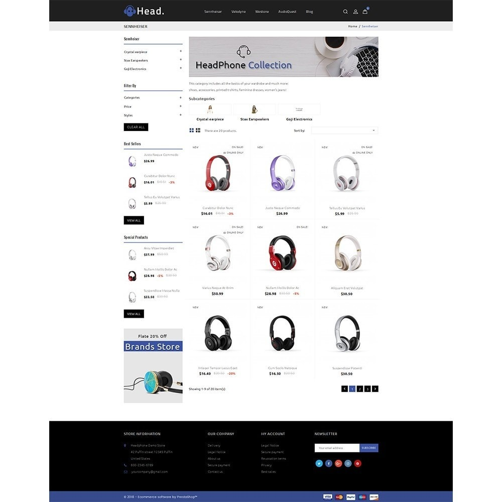 theme - Electronics & Computers - Headphone Demo Store - 3