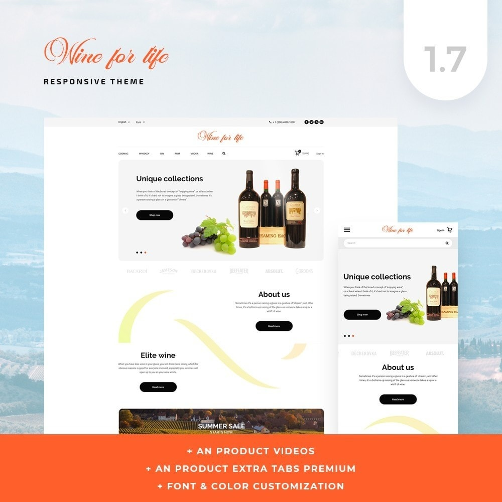 theme - Drank & Tabak - Wine for life Shop - 1