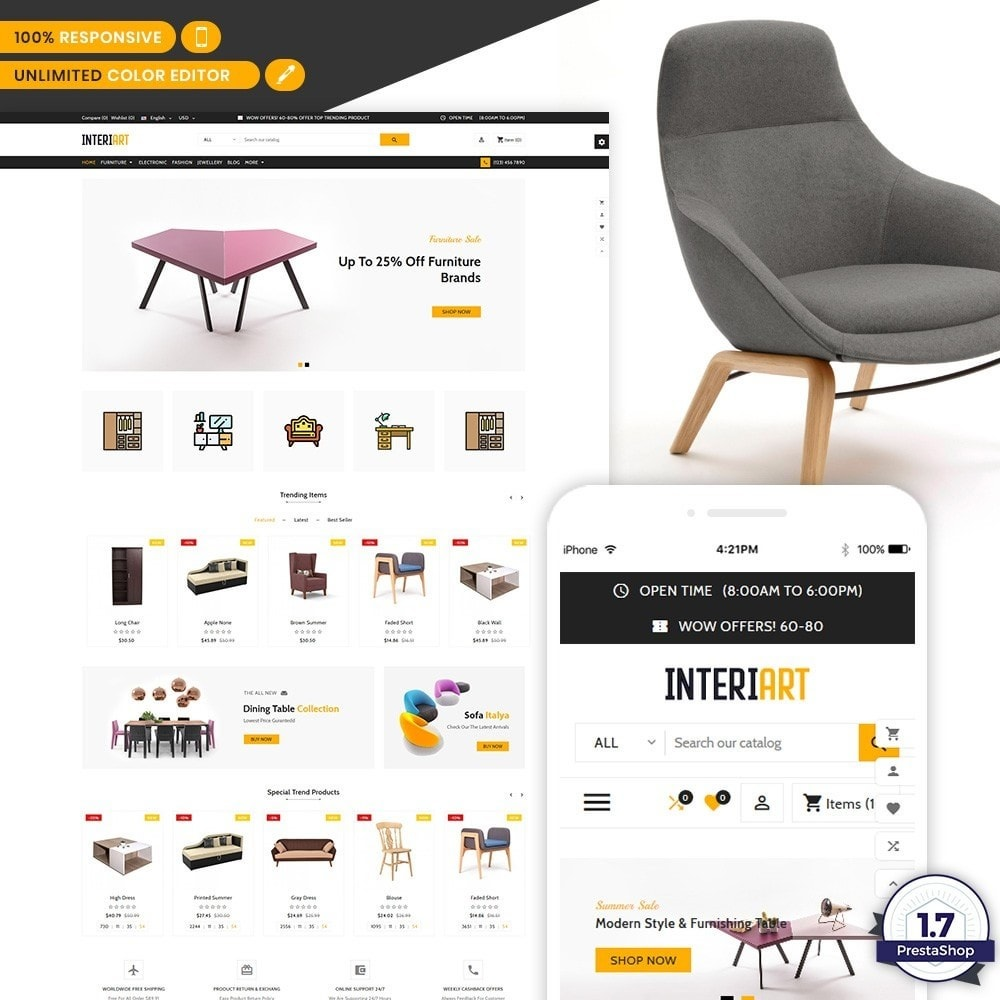 theme - Home & Garden - Interi Art - Designer Furniture Shop - 1