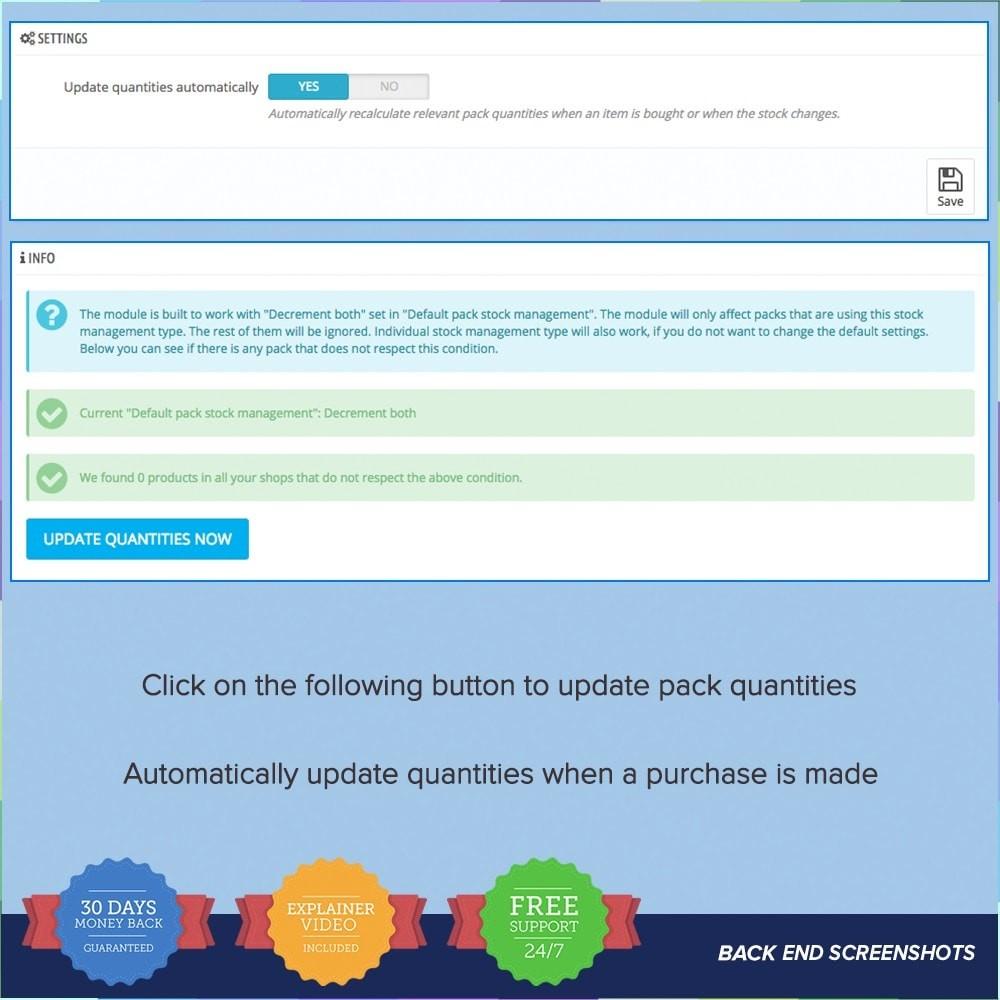 module - Ventas cruzadas y Packs de productos - Bundle Stocks / Product Packs Automatic Update - 6