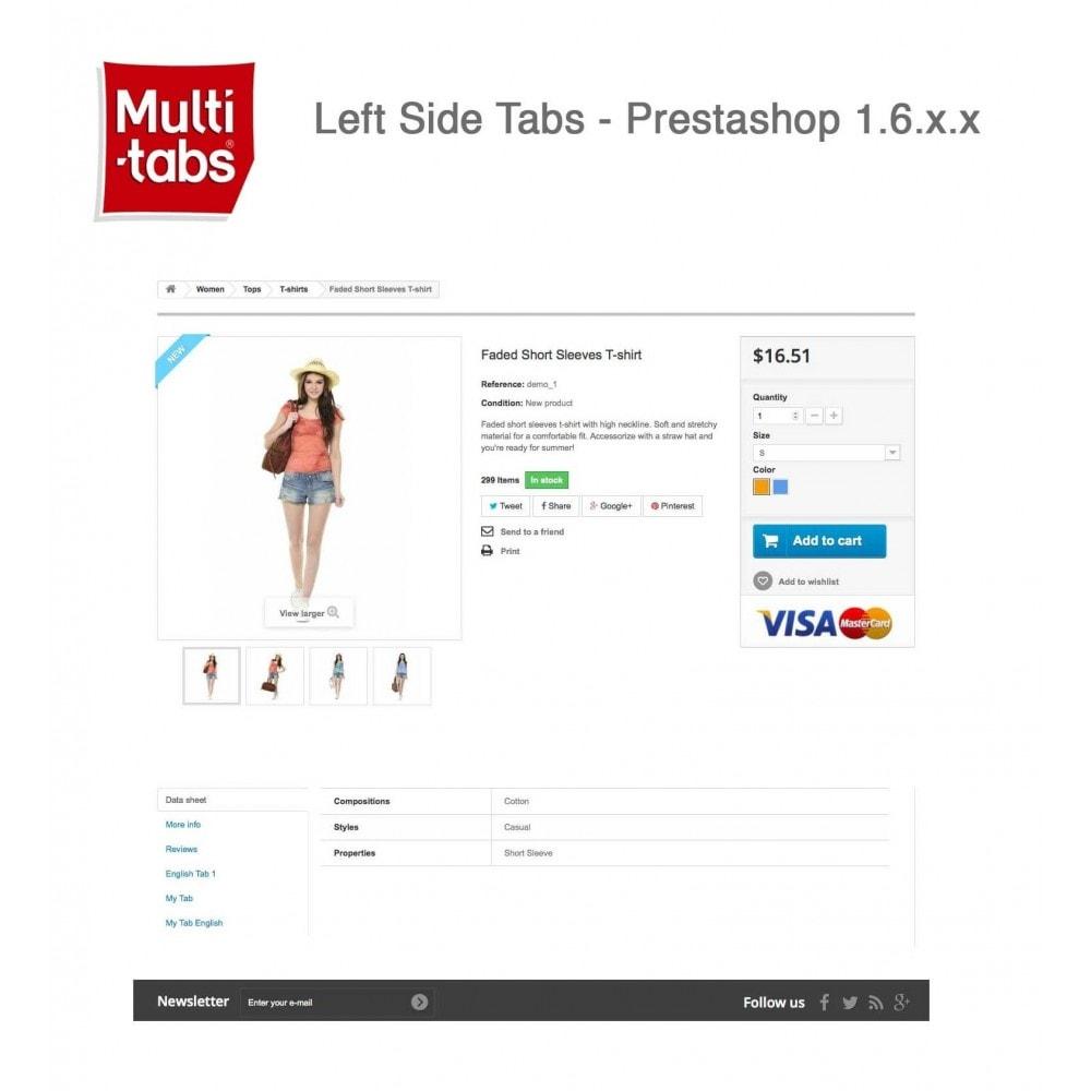 module - Internacionalización y Localización - Product Tabs (Multi-Language, Responsive, 12 styles) - 12