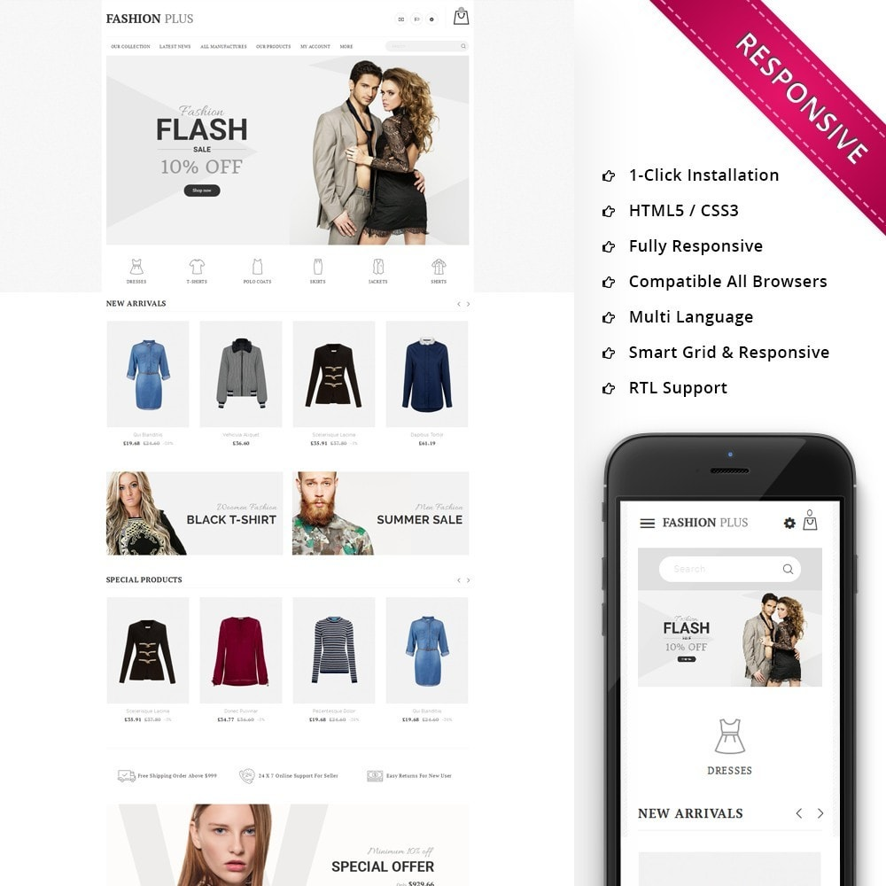 theme - Fashion & Shoes - Fashion Plus - The Fashion Store - 1