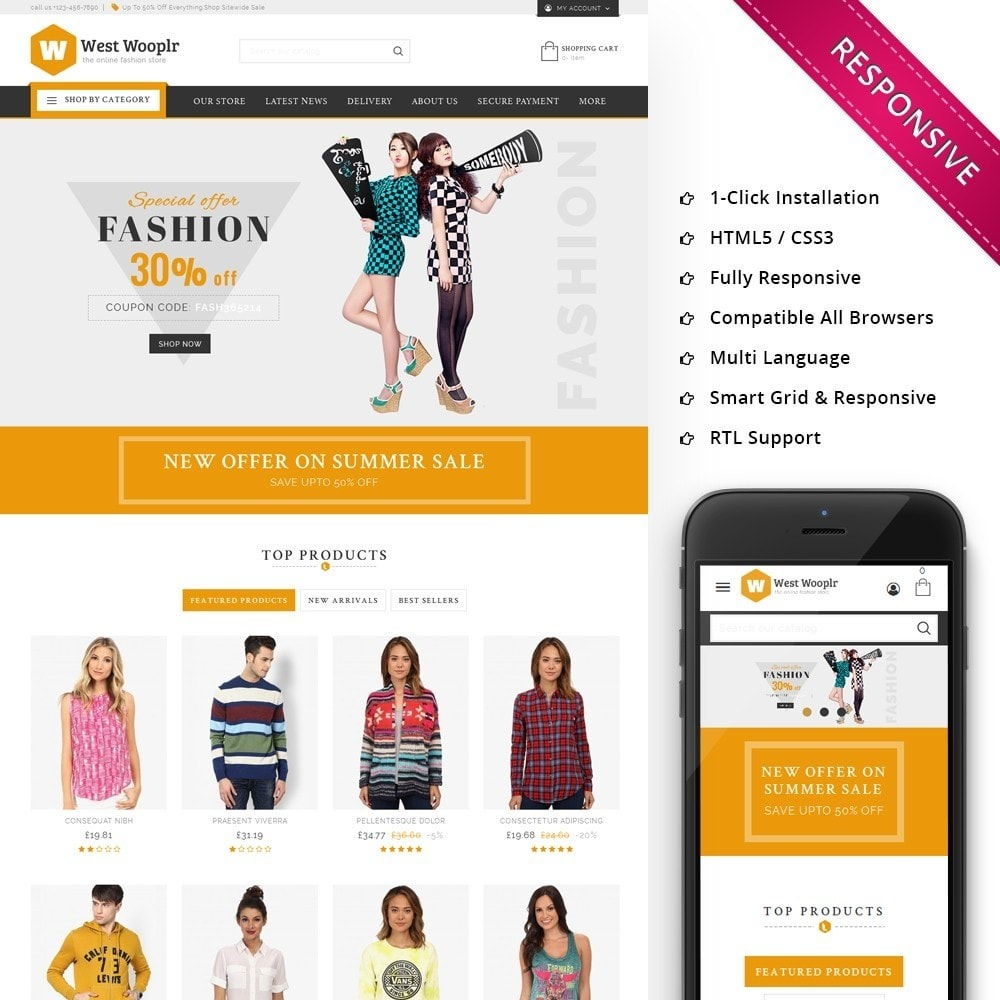 theme - Fashion & Shoes - West Wooplr - The Fashion Store - 1