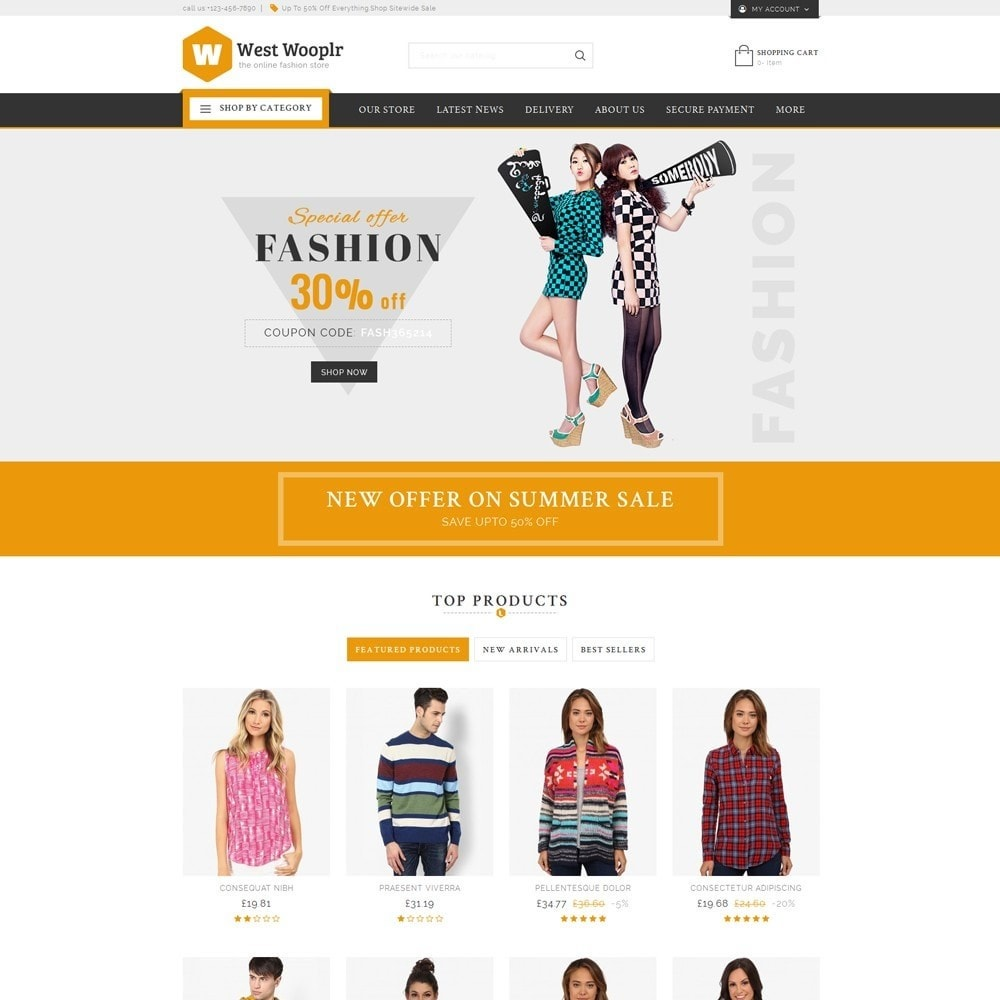 theme - Fashion & Shoes - West Wooplr - The Fashion Store - 2