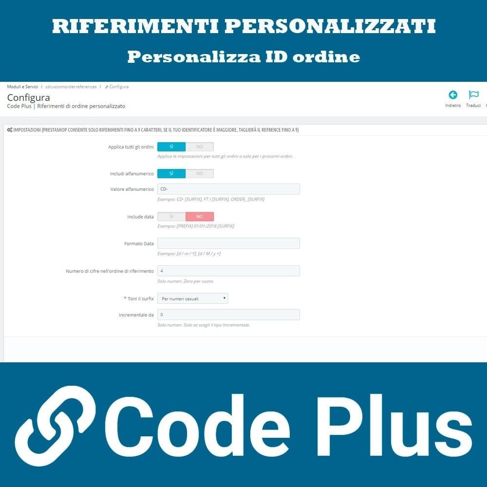 module - Gestione Ordini - Riferimenti di ordine personalizzato - 2