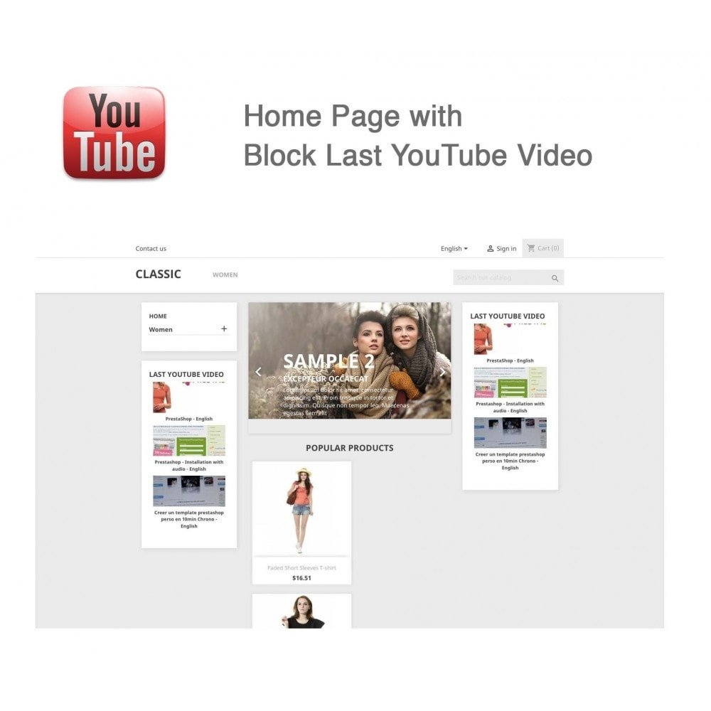 module - Bloques, Pestañas y Banners - Responsive Youtube Tabs + Block Last YouTube Video - 9