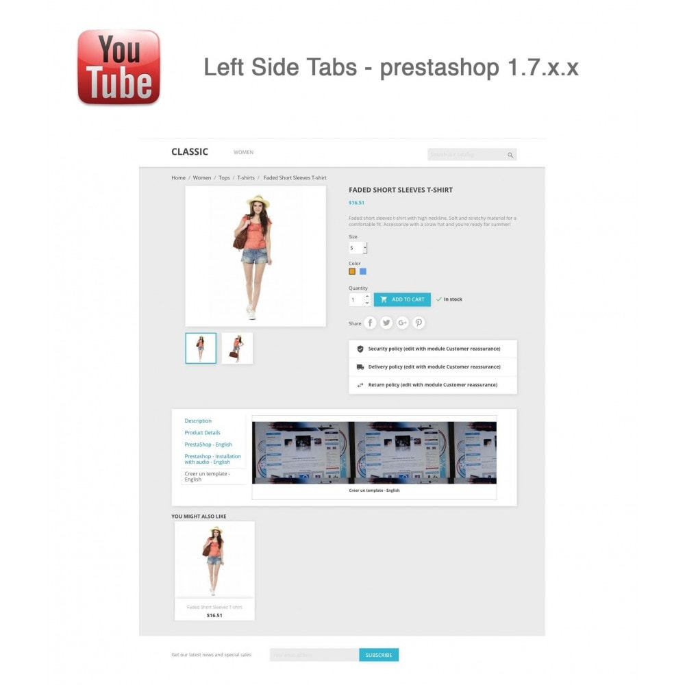 module - Bloki, Zakładki & Banery - Responsive Youtube Tabs + Block Last YouTube Video - 15
