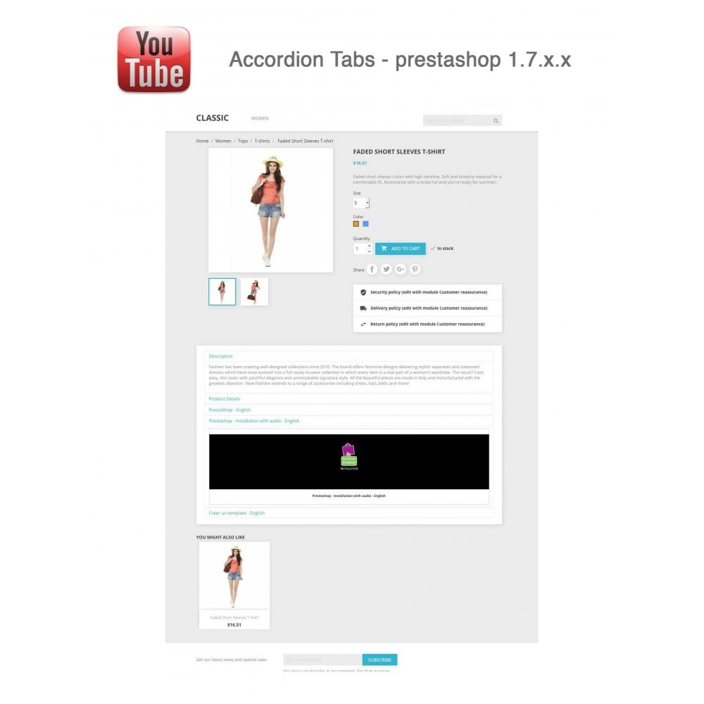 module - Bloques, Pestañas y Banners - Responsive Youtube Tabs + Block Last YouTube Video - 25