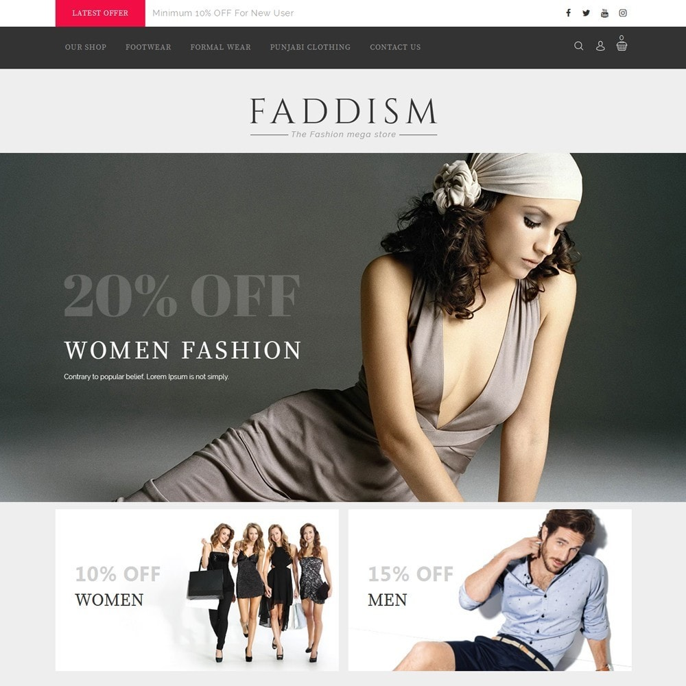 theme - Мода и обувь - Faddism - The Fashion Shop - 2