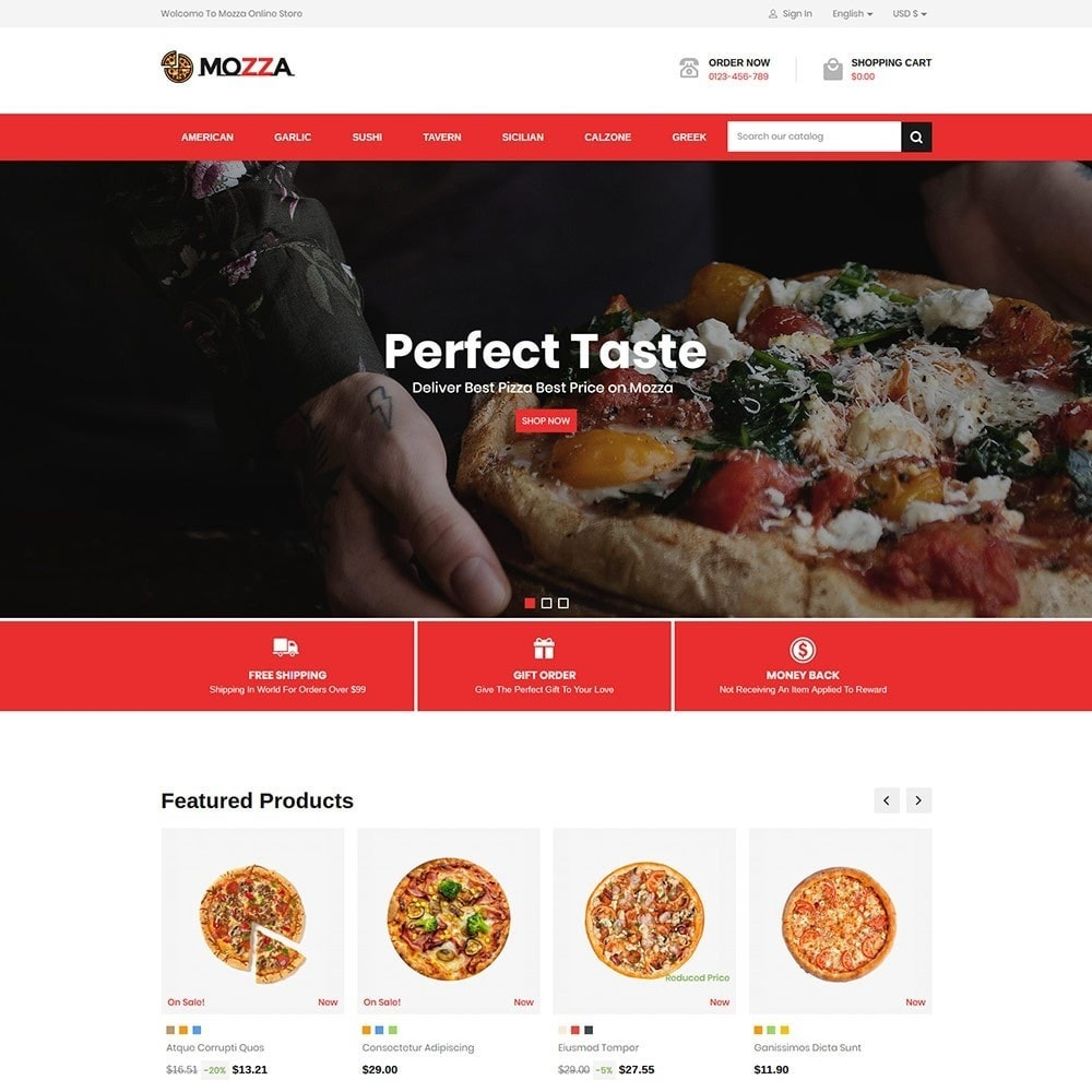 theme - Alimentation & Restauration - Mozza - Pizza Online Store - 2
