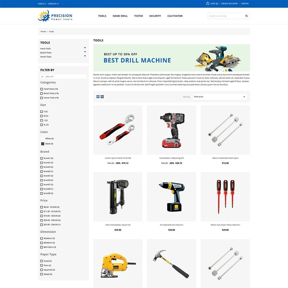 theme - Electronics & Computers - Precision Tools Shop - 3
