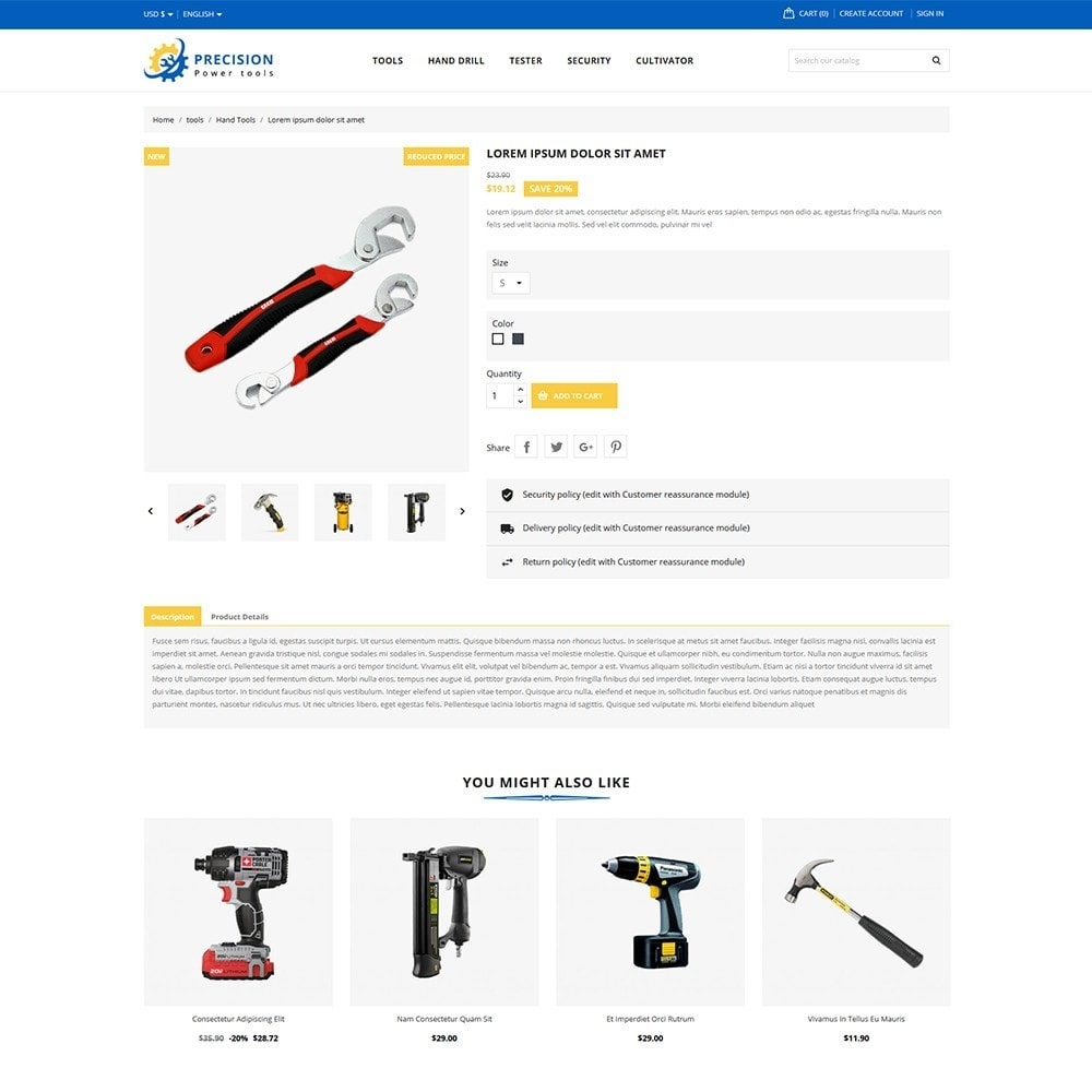 theme - Electronics & Computers - Precision Tools Shop - 5