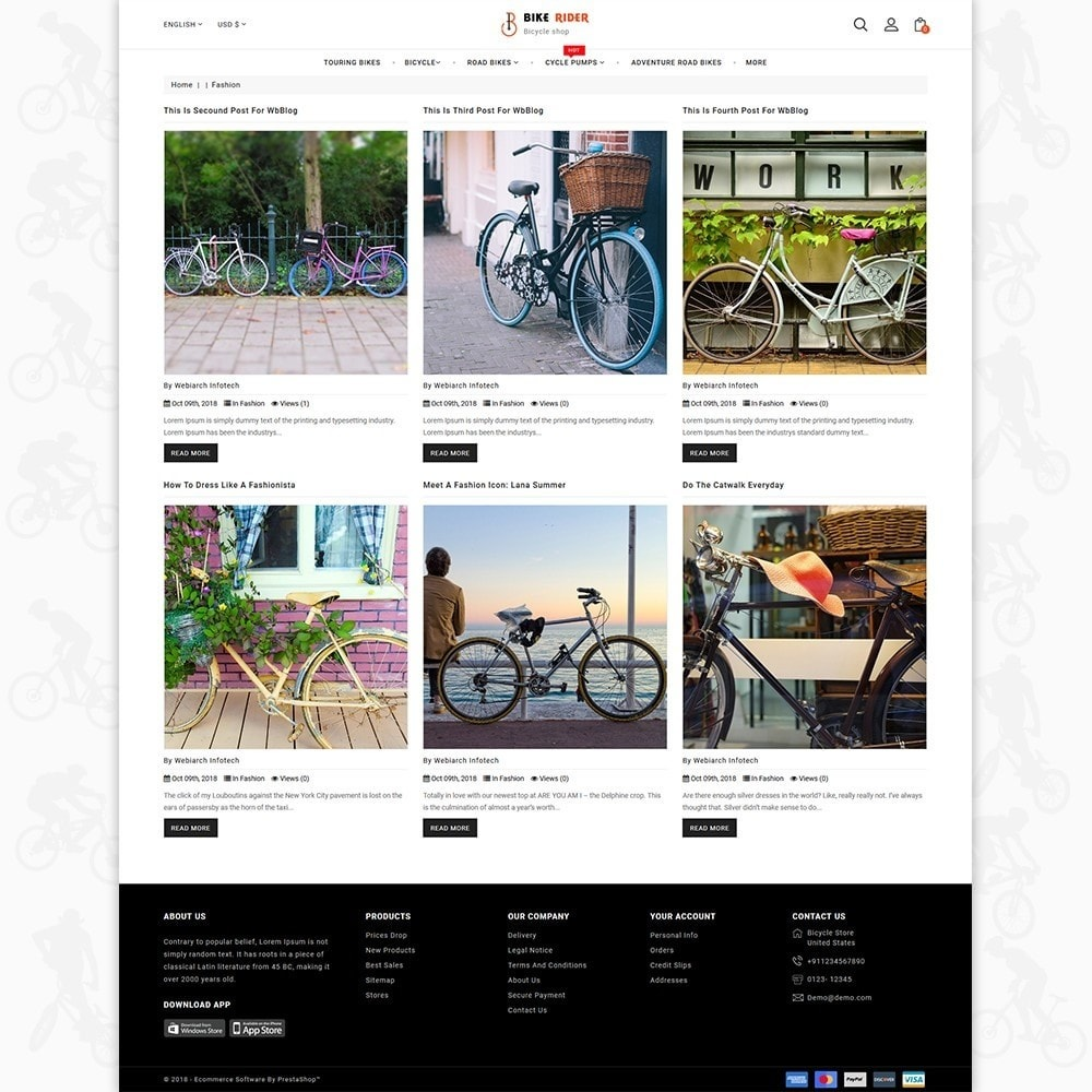 theme - Sport, Loisirs & Voyage - Bike Ryder - The Bicycle Store - 6