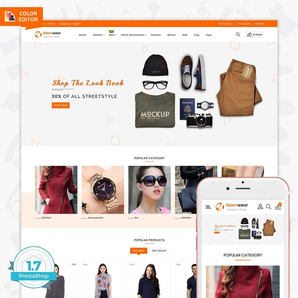 theme - Fashion & Shoes - Glamwear The Best Fashion Store - 1