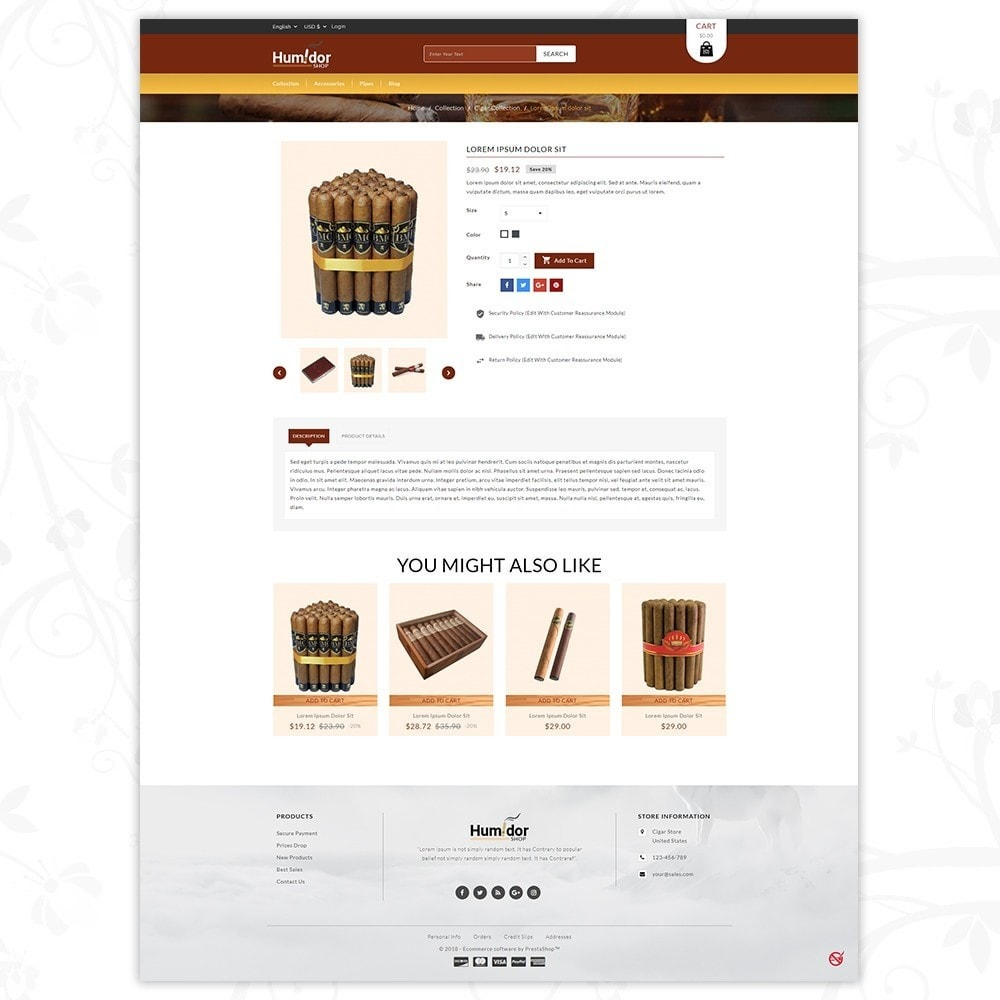 theme - Напитки и с сигареты - Humidor - Cigar Store - 5