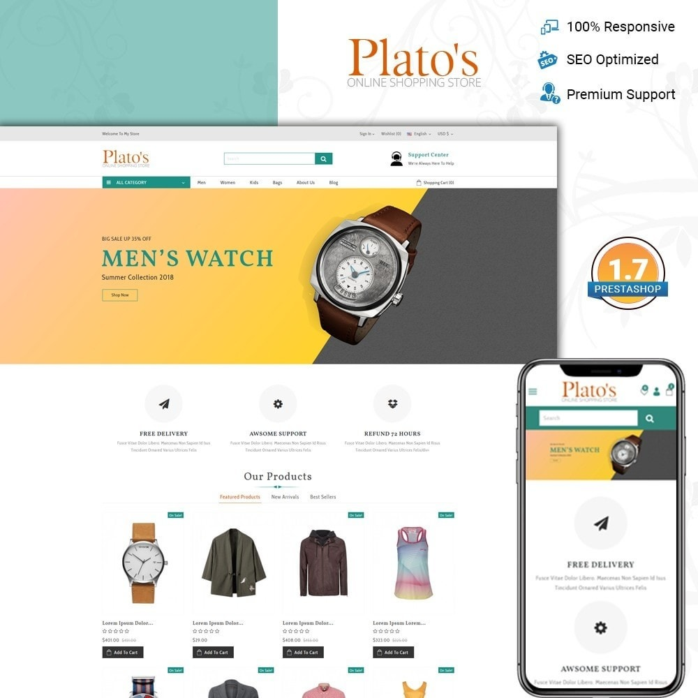 theme - Fashion & Shoes - Plato's - Fashion Store - 1