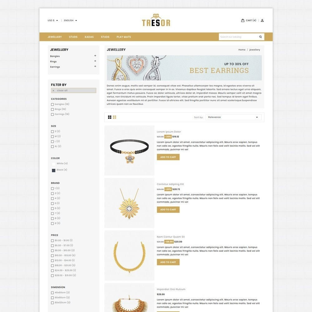 theme - Jewelry & Accessories - Tresor Jewellery Shop - 4