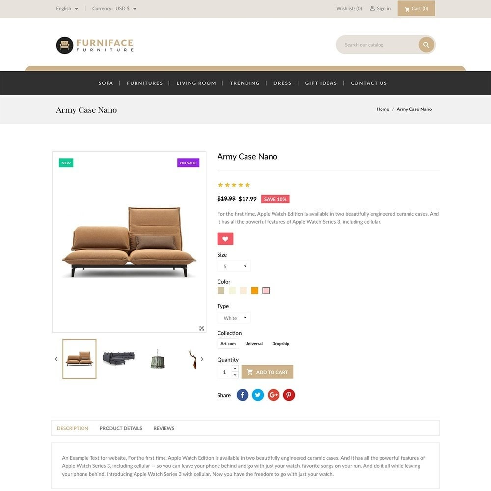 theme - Casa & Jardins - Furnitures - Furniture Online Store - 5