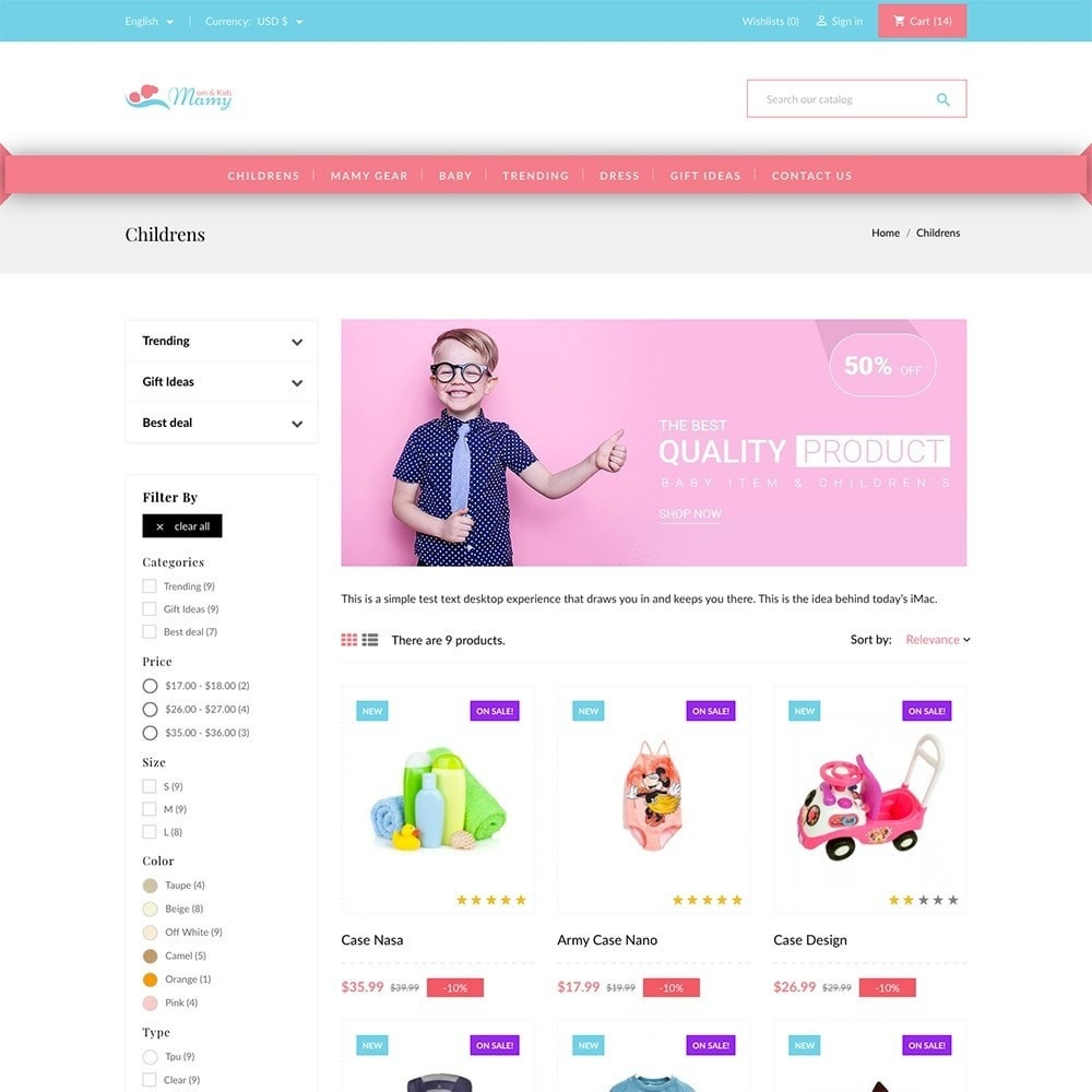 theme - Kids & Toys - Mamy and Kids - 3