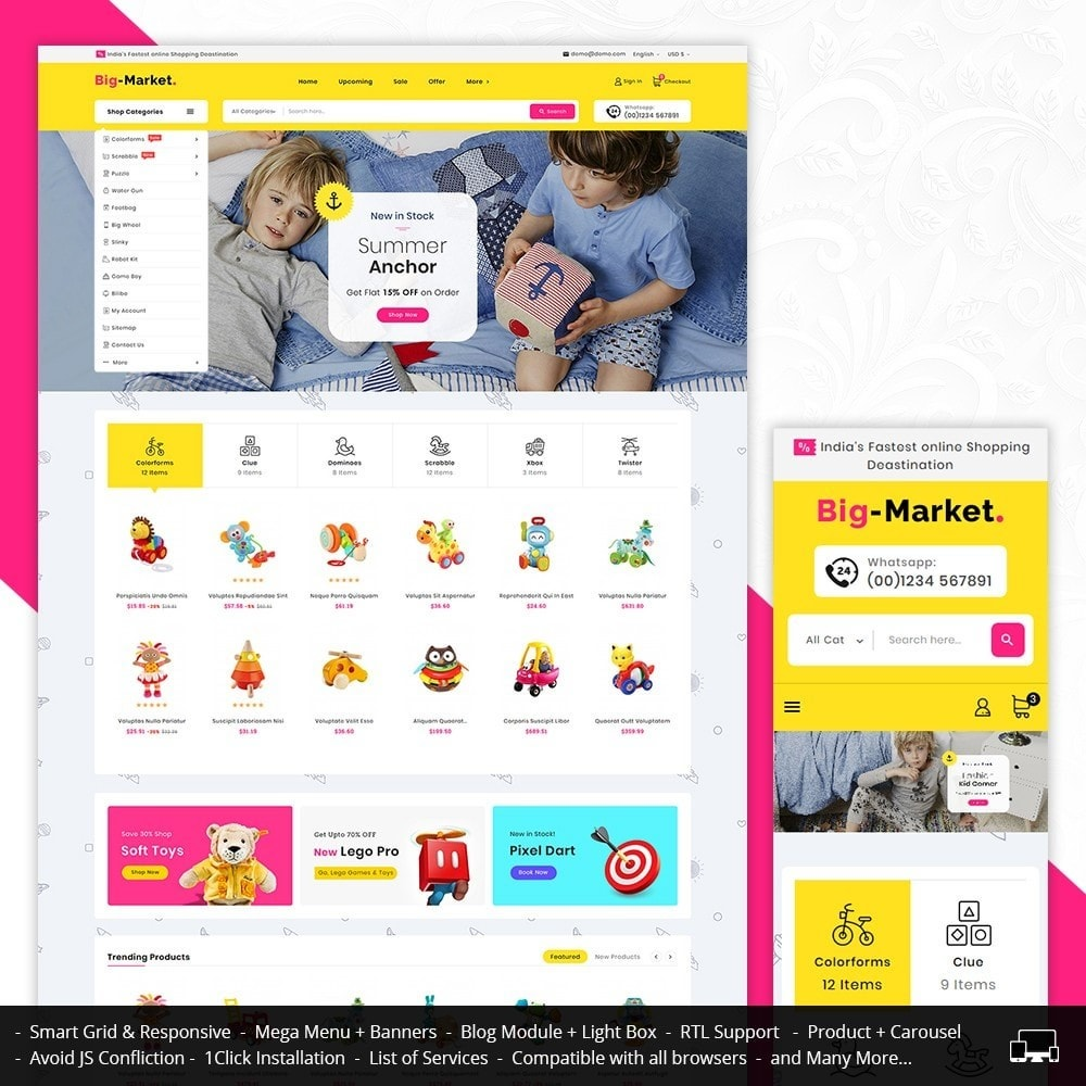 theme - Kids & Toys - Mega Market Kid Toys - 1