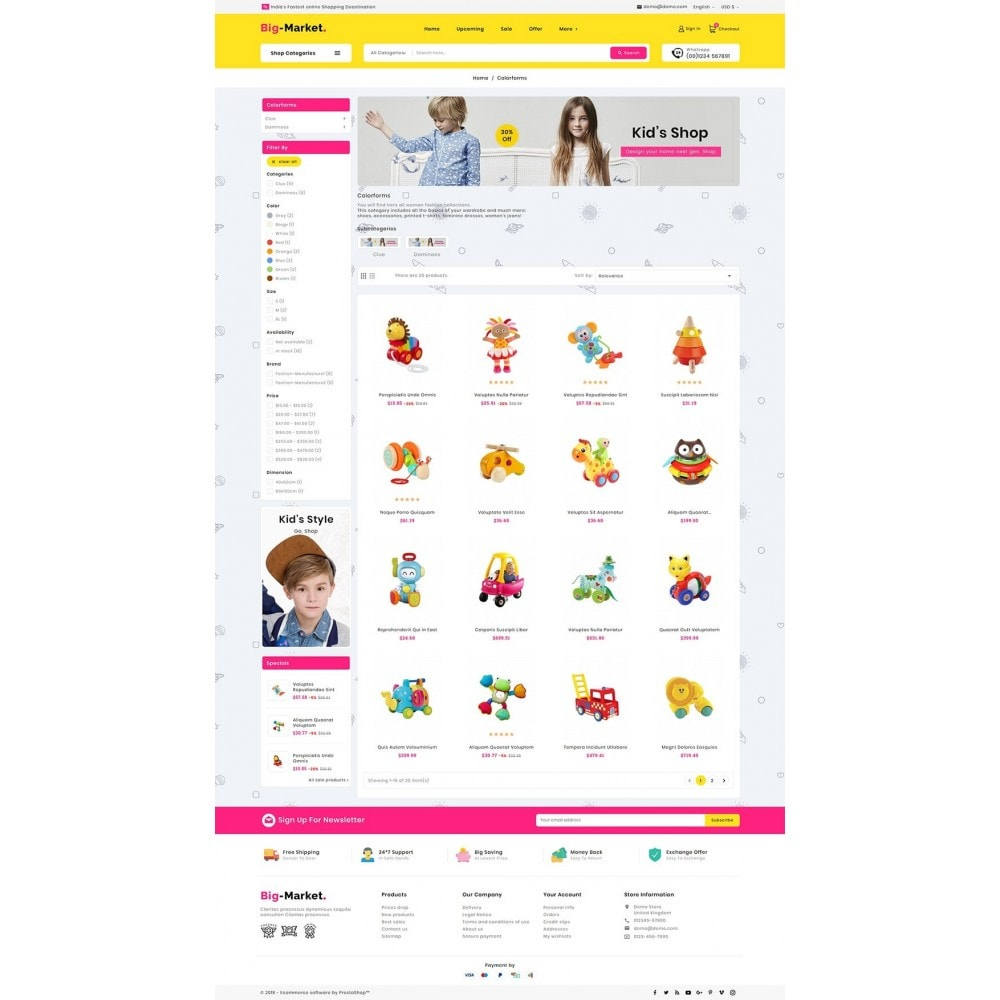 theme - Crianças & Brinquedos - Mega Market Kid Toys - 3