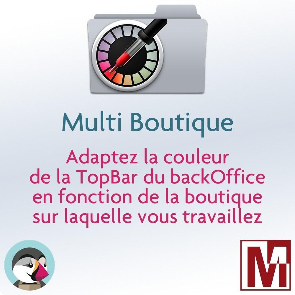 module - Outils d'administration - Multi-Boutique Couleur TopBar Backoffice personnalisée - 1