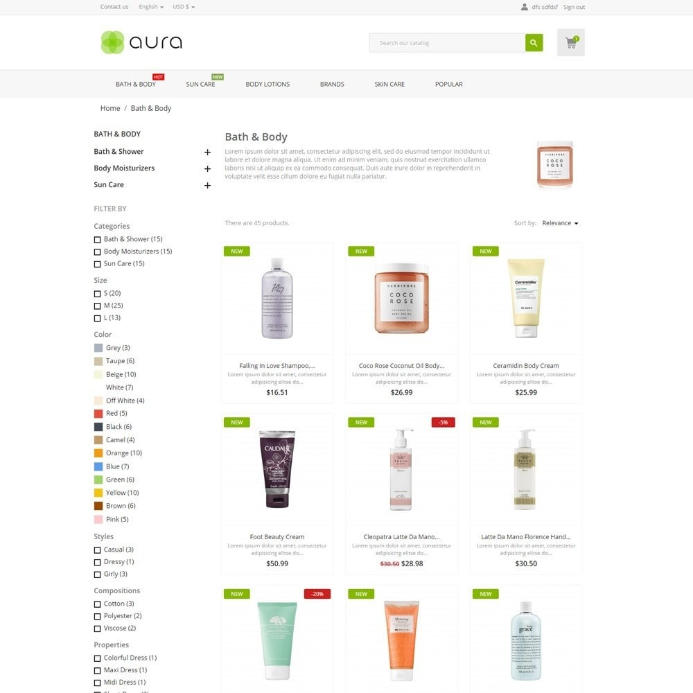 theme - Health & Beauty - Aura Cosmetics - 5