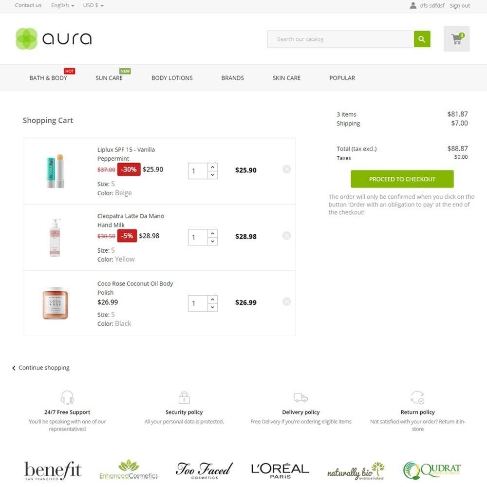 theme - Health & Beauty - Aura Cosmetics - 7