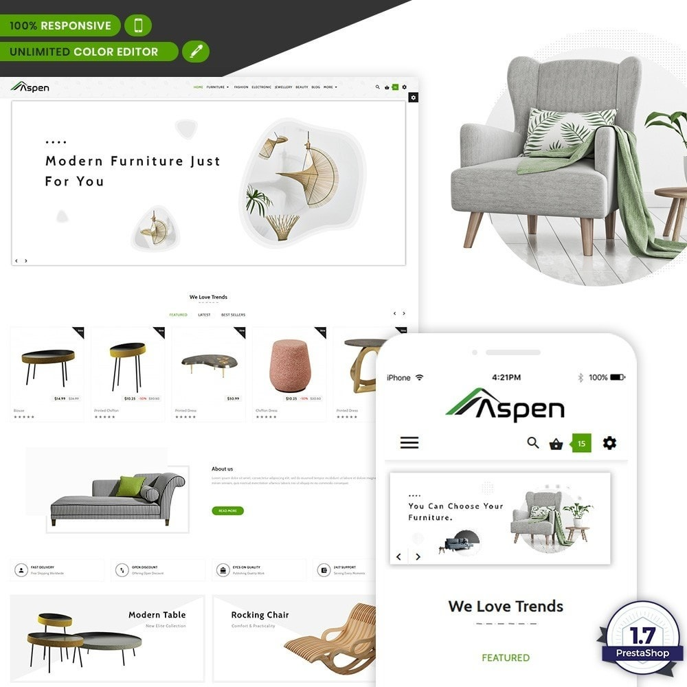 theme - Home & Garden - Aspen - Furniture - 1