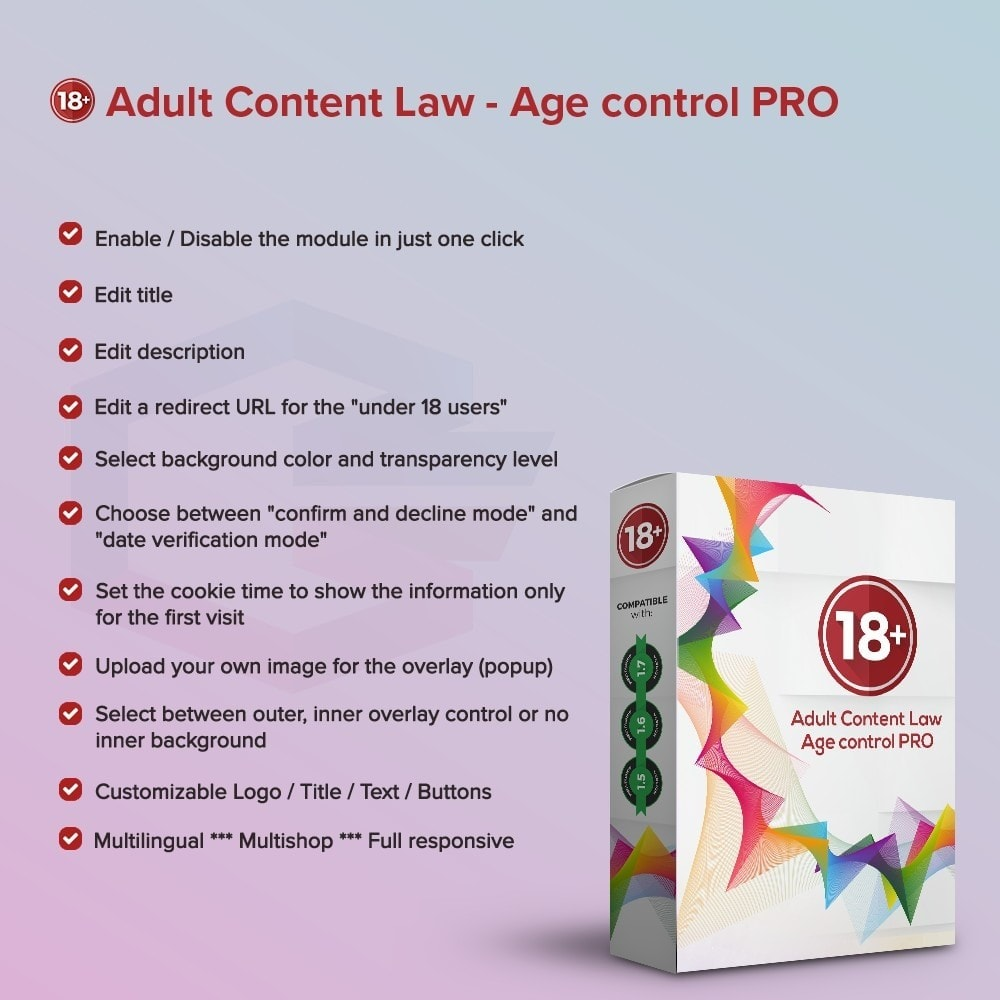 module - Legal - Adult Content Law - Age control PRO - 1