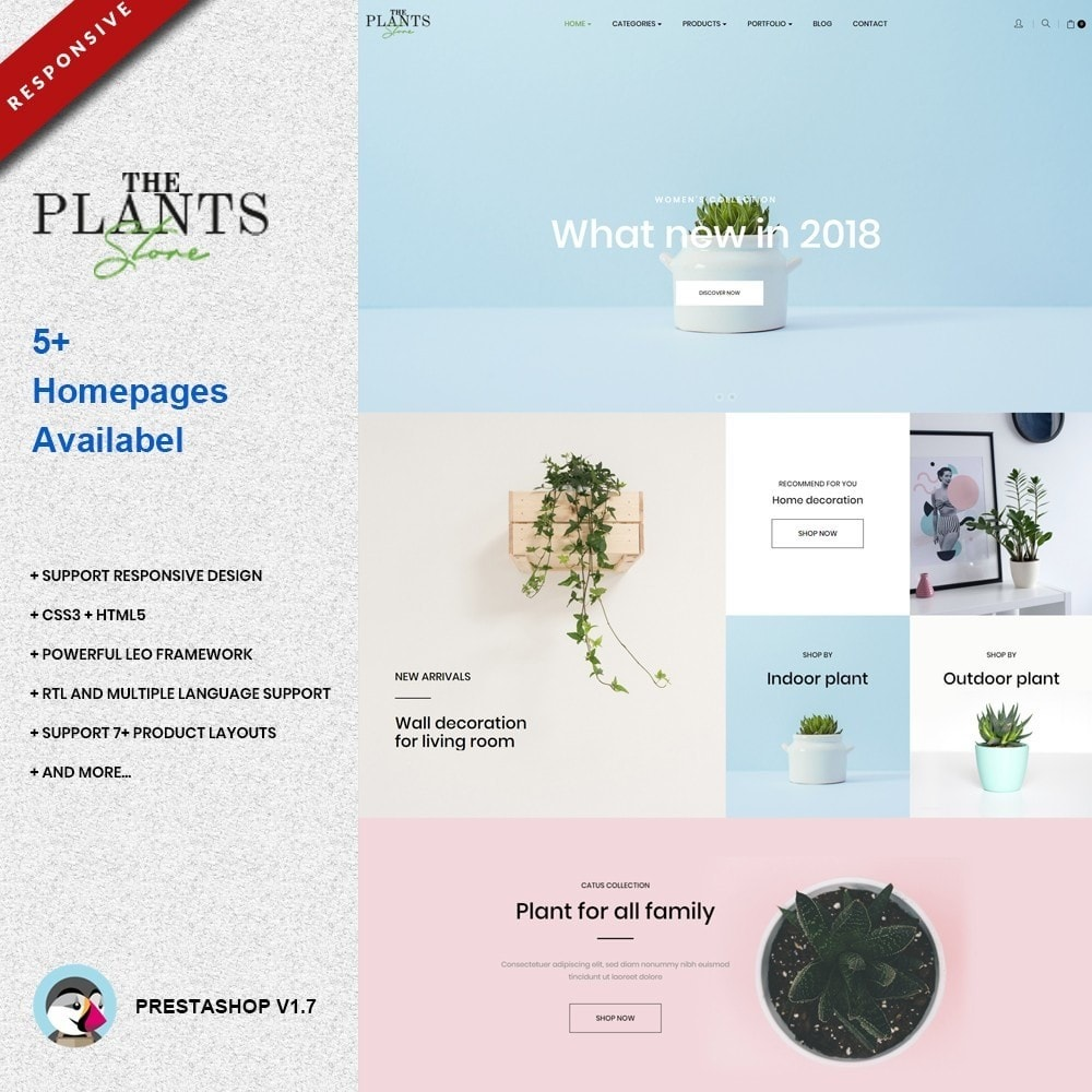 theme - Home & Garden - Plant Store - Gardening & Houseplants - 1
