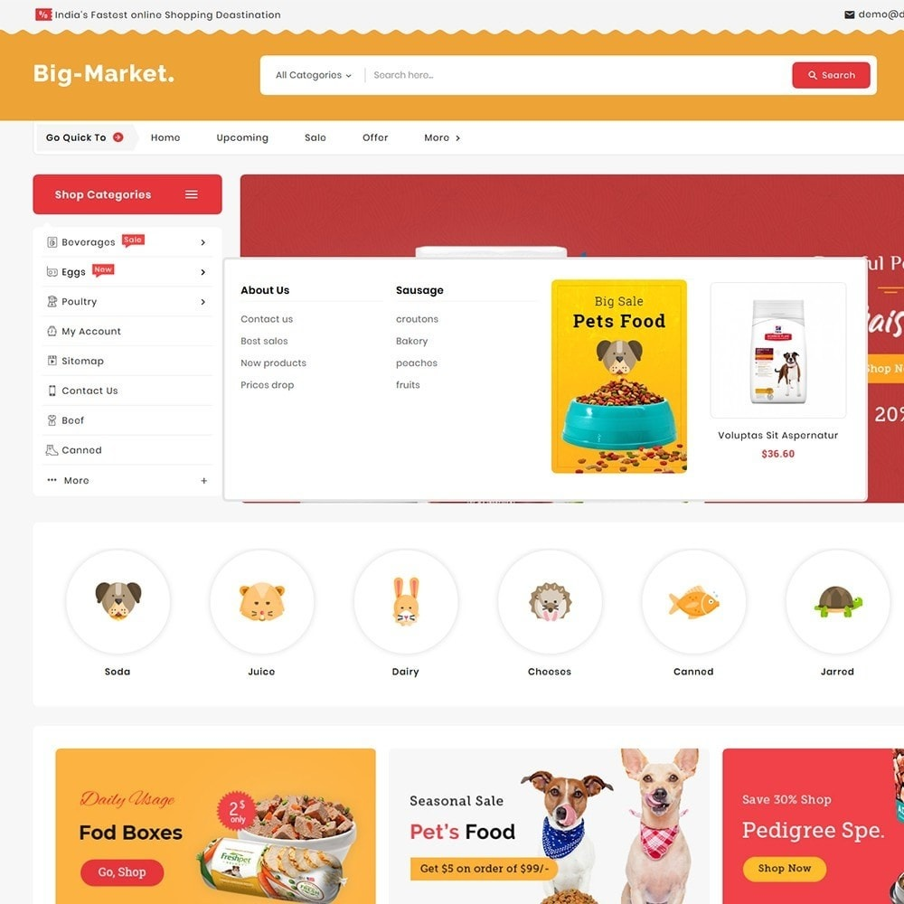 theme - Animales y Mascotas - Big Market Pet Foods - 9