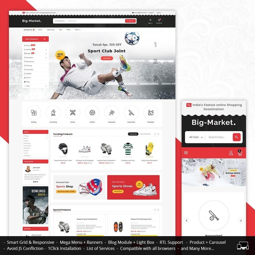 theme - Desporto, Actividades & Viagens - Big Market Sports Store - 1