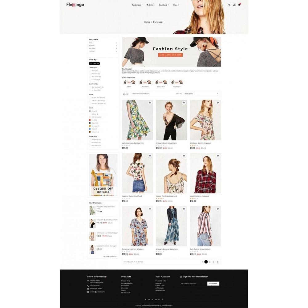 theme - Fashion & Shoes - Floral Flamingo & Fashion Apparels - 3