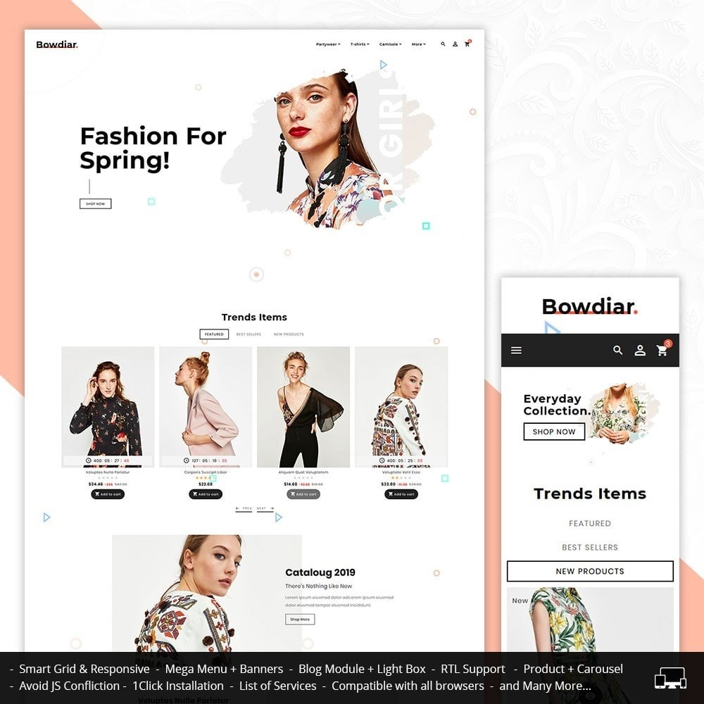 theme - Fashion & Shoes - Bowdiar Fashion & Floral Style - 1