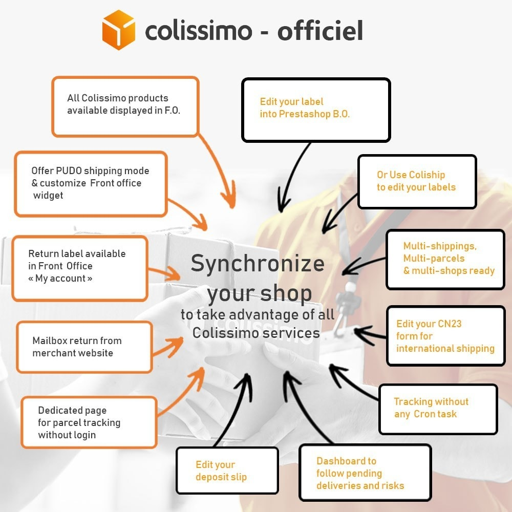 module - Shipping Carriers - Colissimo - Official app: your shipments with Colissimo - 1