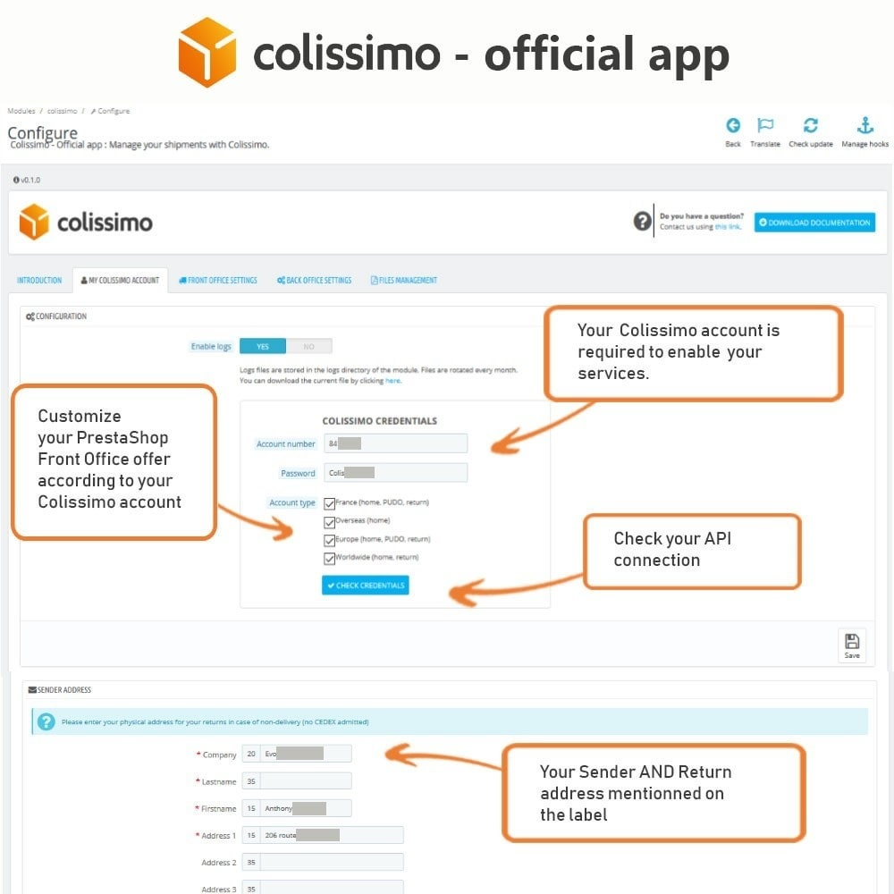 module - Shipping Carriers - Colissimo - Official app: your shipments with Colissimo - 4