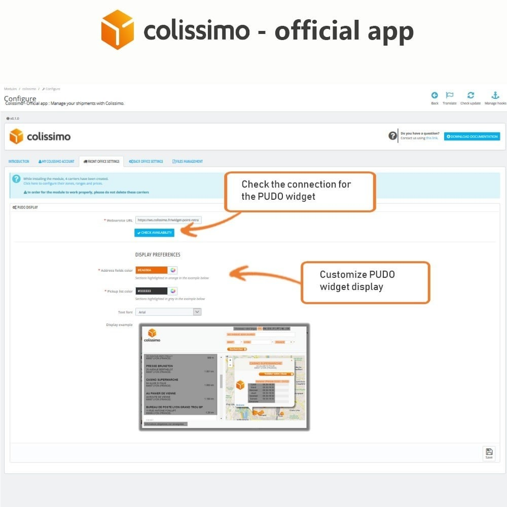 module - Vervoerder - Colissimo - Official app: your shipments with Colissimo - 5