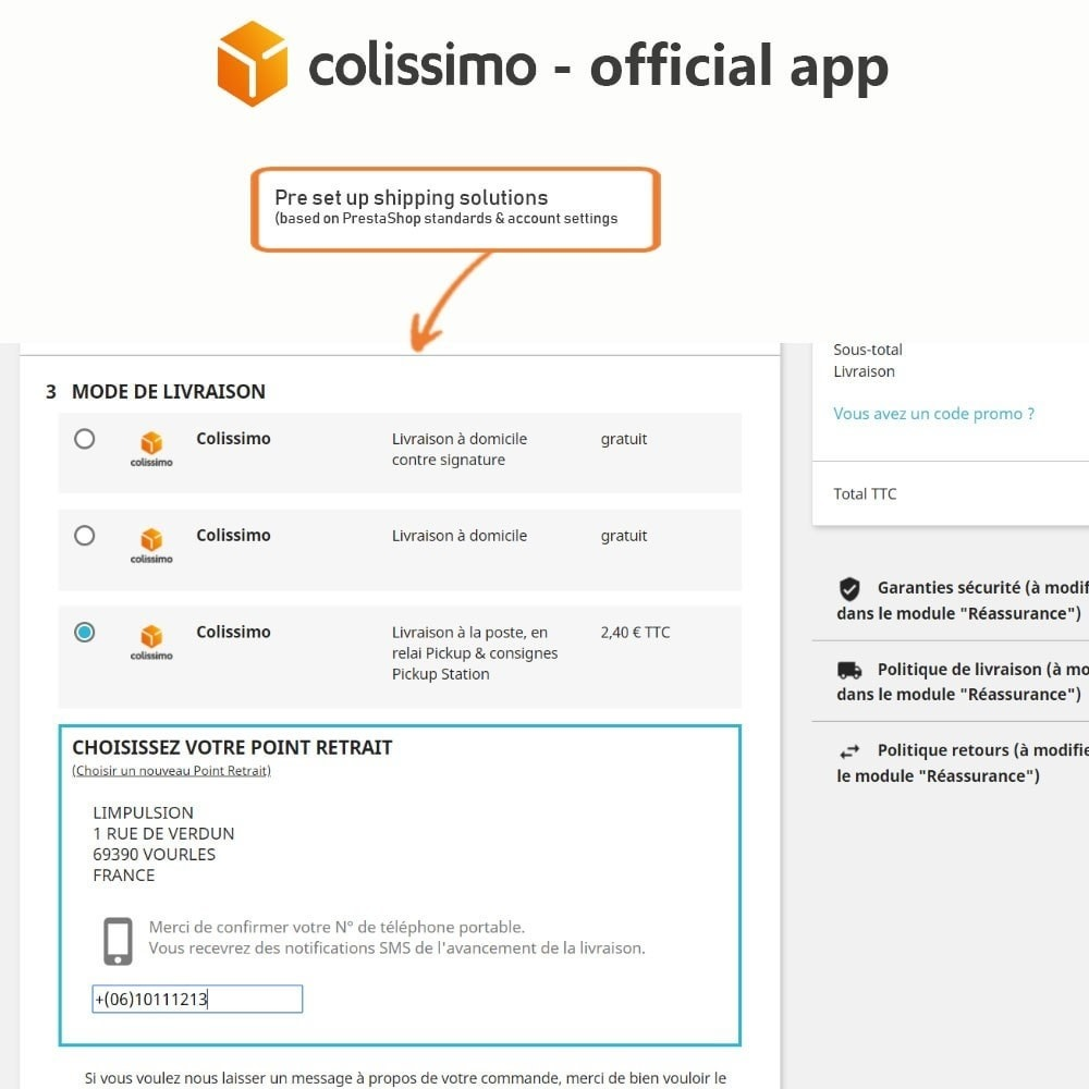 module - Vervoerder - Colissimo - Official app: your shipments with Colissimo - 8