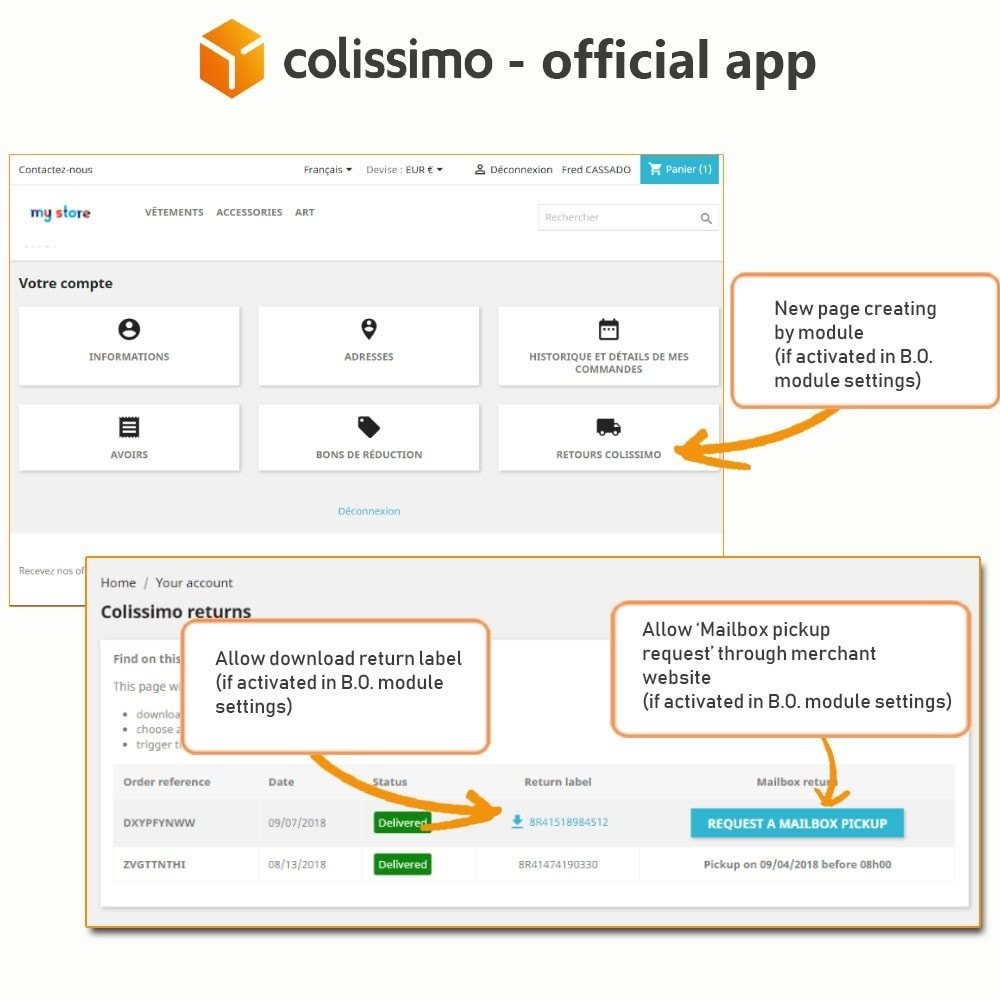 module - Vervoerder - Colissimo - Official app: your shipments with Colissimo - 20