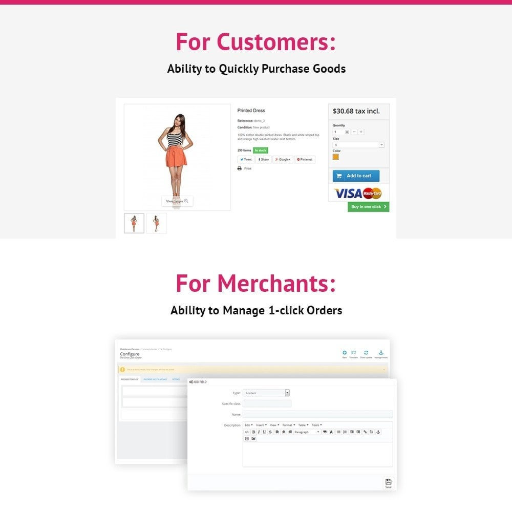 module - Bestelproces - JX One Click Order - 2