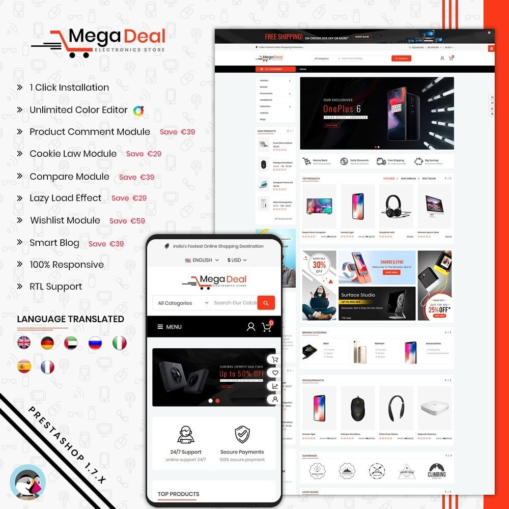 theme - Eletrônicos & High Tech - Mega Deal Electronics - 1