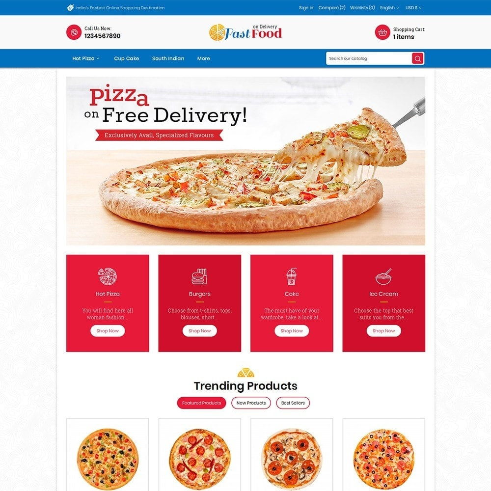 theme - Alimentos & Restaurantes - Pizza Fast Food - 2