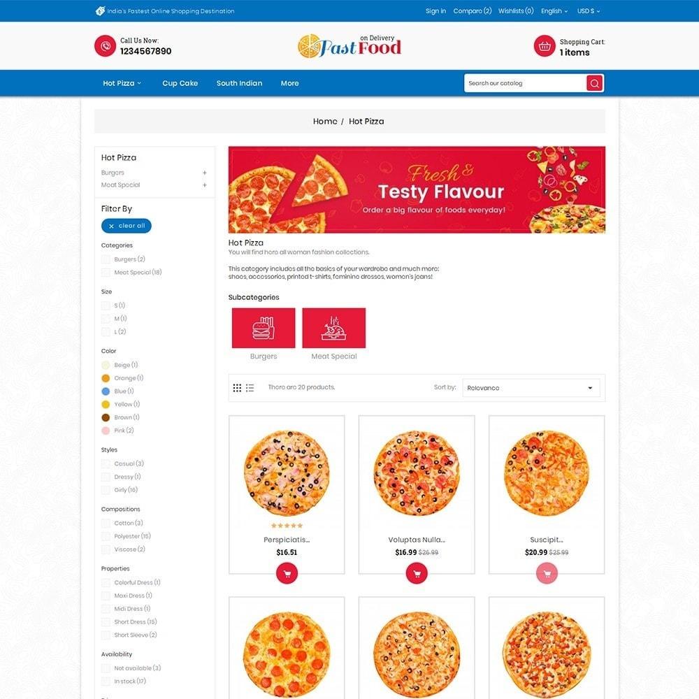 theme - Alimentos & Restaurantes - Pizza Fast Food - 6