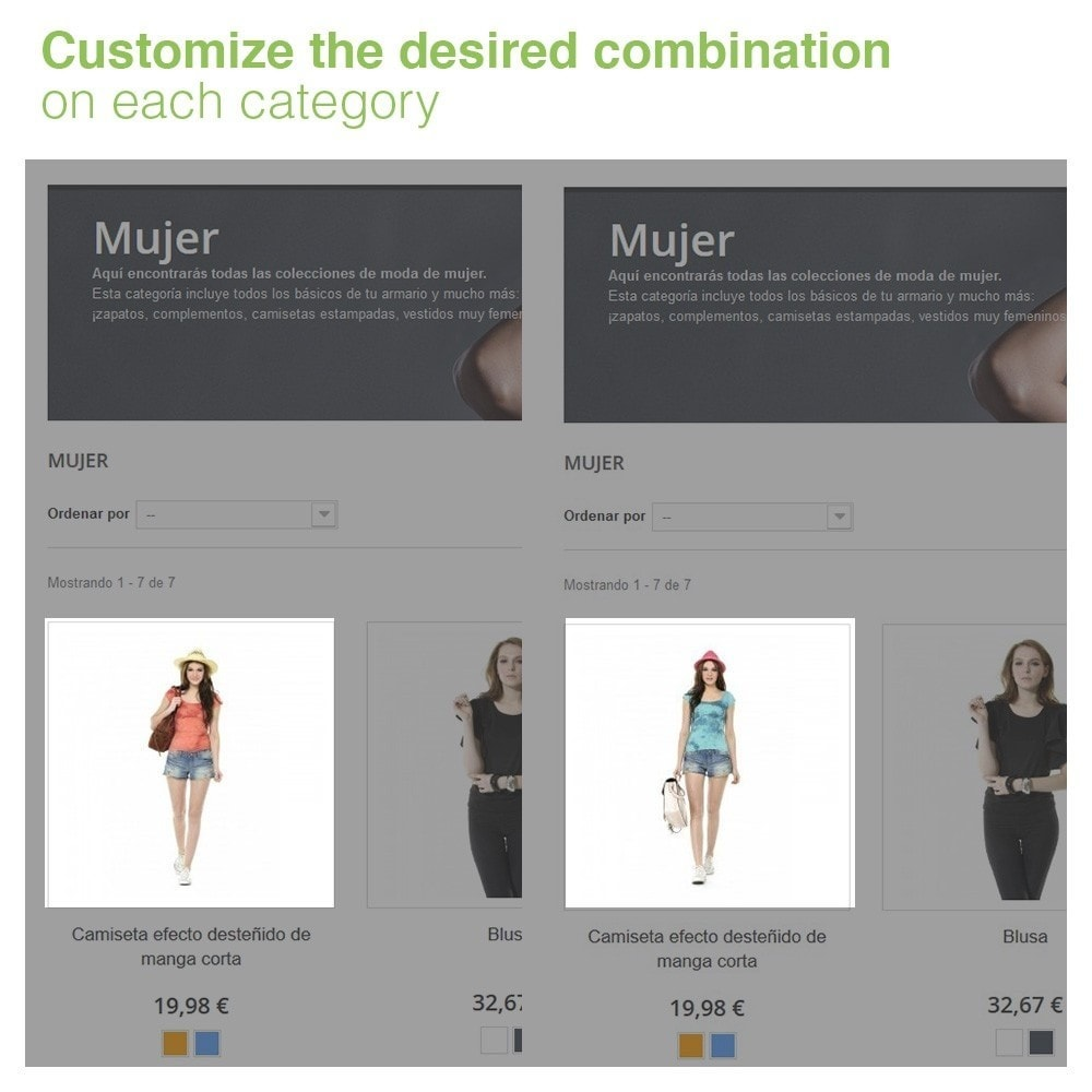 module - Combinations & Product Customization - Custom attributes combination for each category - 2