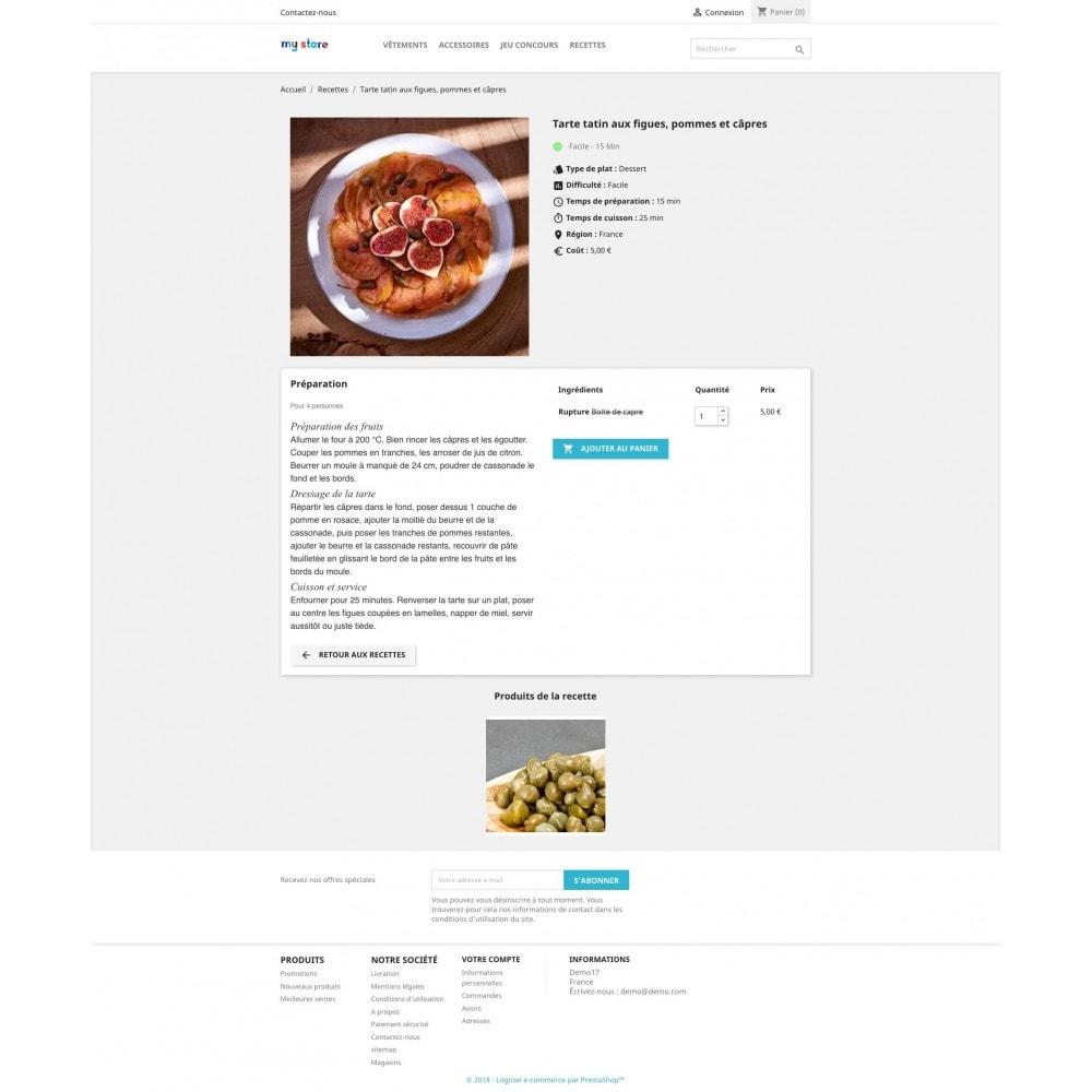 module - Fidélisation & Parrainage - Configurateur de recettes avec vos produits - 3