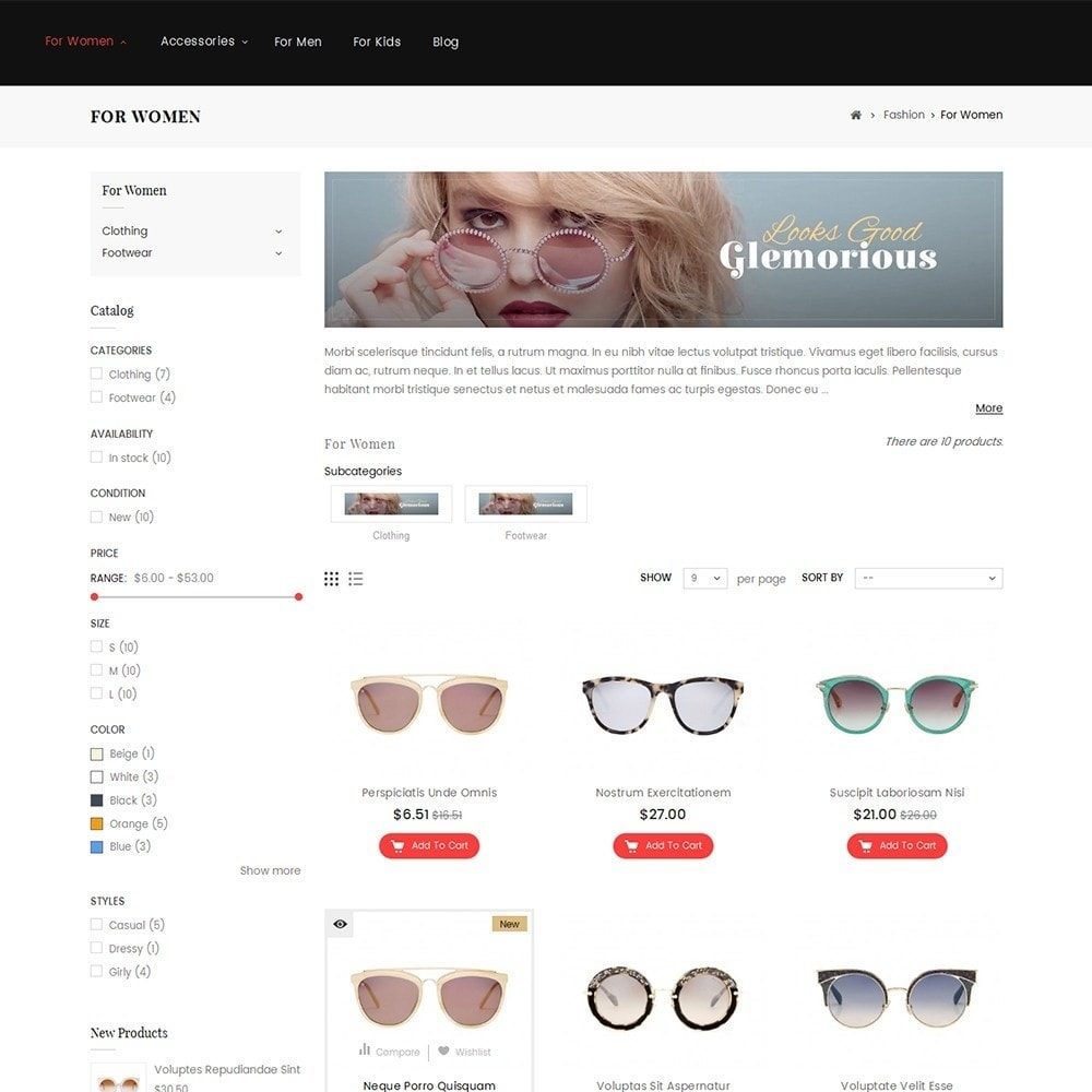 theme - Moda y Calzado - Sunshine - Goggles Store - 3