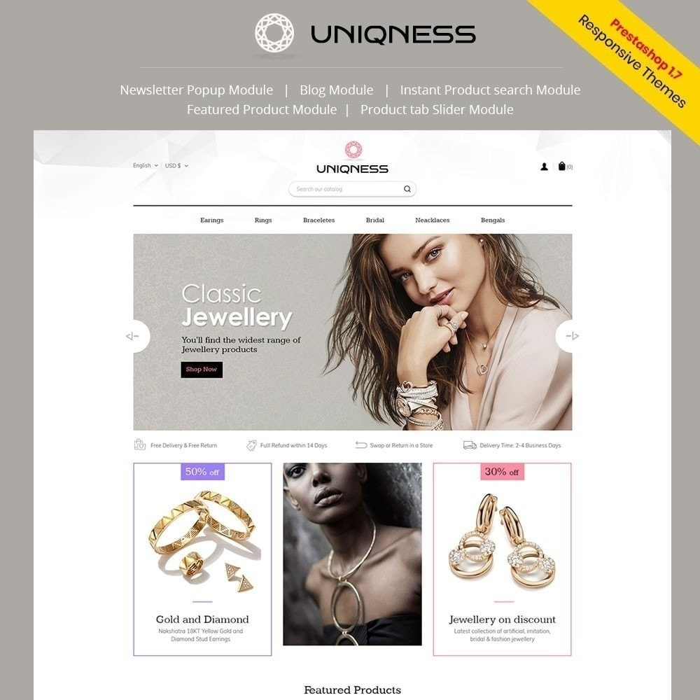 theme - Jewelry & Accessories - Uniqness Jewellery Store - 1