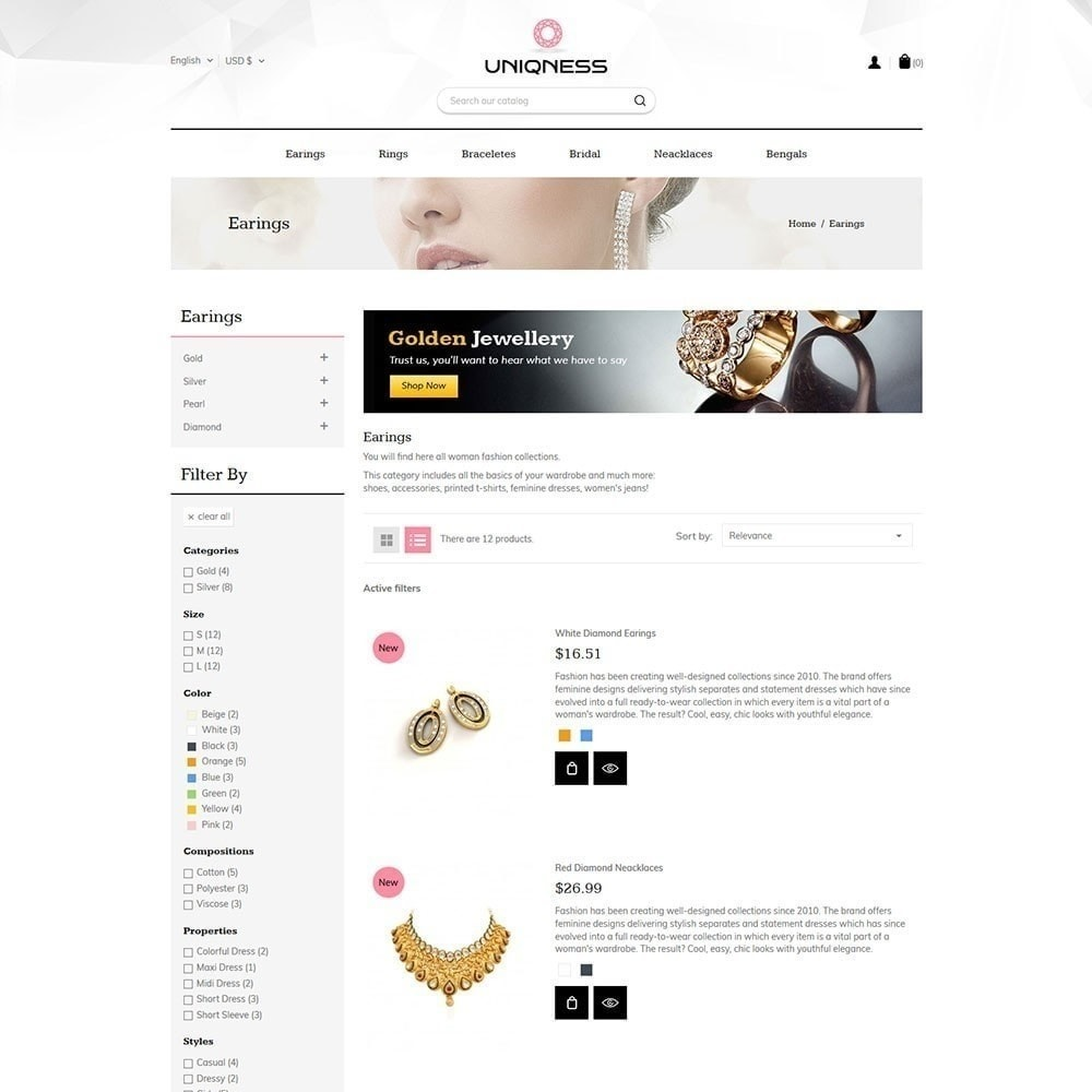 theme - Jewelry & Accessories - Uniqness Jewellery Store - 2